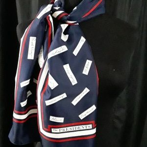 Presidential  Scarf with  Presidents Signatures